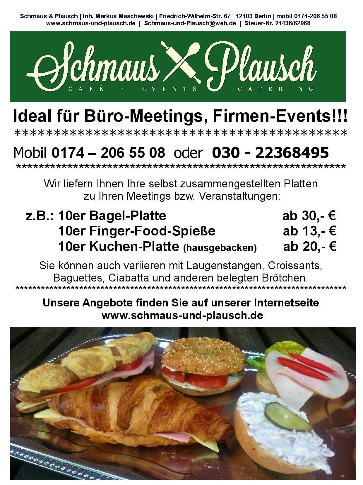 Catering - Lieferservice - Aktion