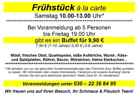 Frühstück im Schmaus & Plausch - Buffet oder á a carte