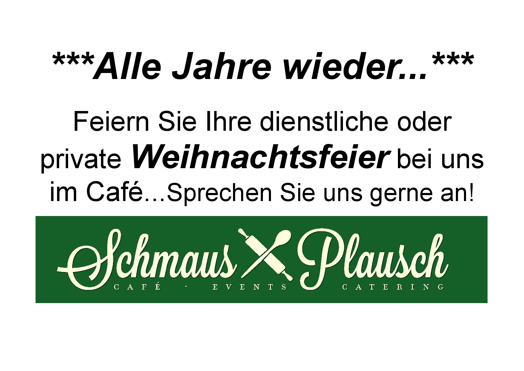 Weihnachtsfeier Café